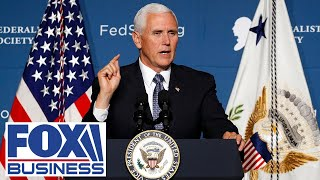 Pence speaks at a 'Defend the Majority' rally with Sens. Perdue and Loeffler