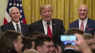 President Trump welcomes Clemson Tigers to the White House: full video