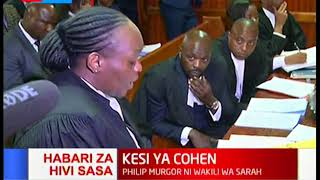 It's a battle between Murgor and Ombeta and right in the middle are Sarah Wairimu and the late Cohen