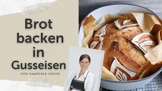 Brot backen im gusseisernen Topf von Pampered Chef