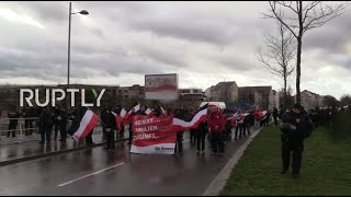 LIVE: Far-right 'Die Rechte' party stage rally in Leipzig, counter-protests expected
