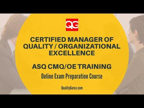 ASQ CMQ/OE [2020] Qualification and Online Exam Preparation ...