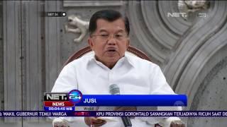 Jusuf Kalla Himbau Agar Pasangan CagubCawagub Tetap Jaga Ketertiban  NET24