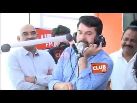 Mammootty performs mimicry at CLUB FM studio
