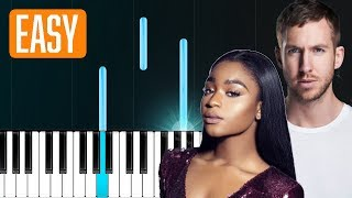 Normani, Calvin Harris   Slow Down 100% EASY PIANO TUTORIAL