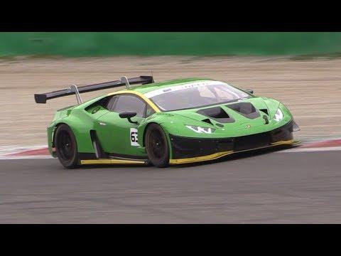 Lamborghini Huracan GT3 EVO First Official Tests at Monza Circuit