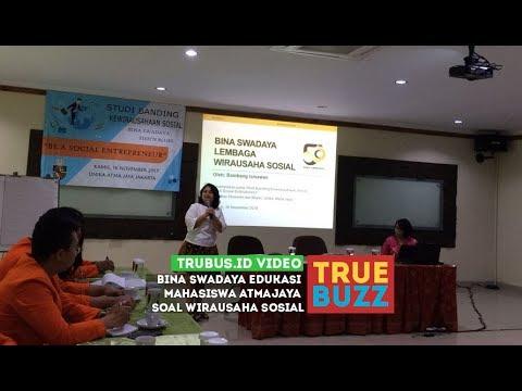 Bina Swadaya Edukasi Mahasiswa Atmajaya Soal Wirausaha Sosial