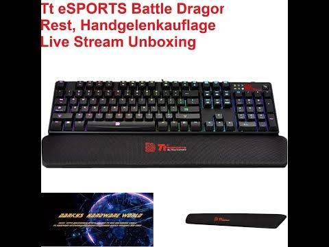 Tt eSPORTS Battle Dragon Wrist Rest, Handgelenkauflage 👍😅 Live Unboxing