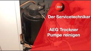 AEG Wärmepumpentrockner Kondensatpumpe reinigen, Behälter leeren