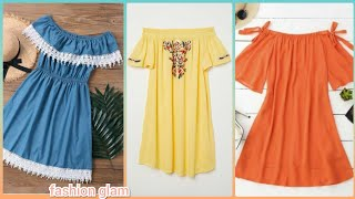 Beautiful Off The Shoulder Womens A-line Casual Day Dresses