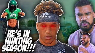 The *FASTEST* And *SCARIEST* Linebacker In High School!!!- Justin Flowe Highlights [Reaction]