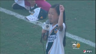 7-Year-Old Girl Brings Down The House With Powerful Rendition Of National Anthem At LA Galaxy Game