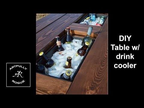 DIY How to build a table with a beer cooler