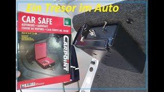 Ein Tresor im Auto, Einbau Car Safe von CarPoint