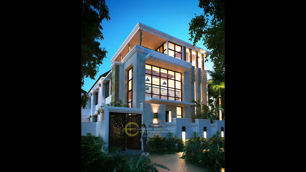Video 3D Mr. Saichu Modern House 3 Floors Design - Bandung