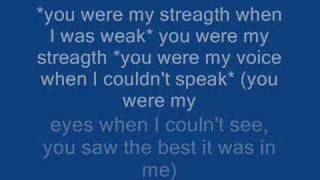 """Video thumbnail of """"Celine Dion - Because You Loved Me - Lyrics"""""""