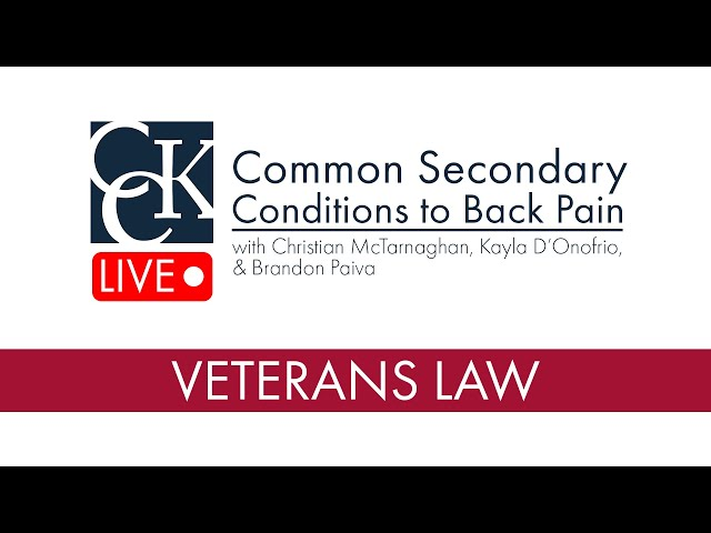Common Secondary Conditions to Back Pain: VA Claims