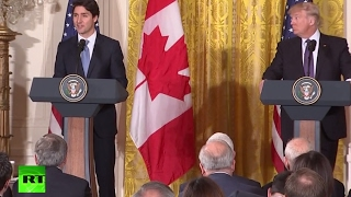 LIVE: Trump & Trudeau joint news conference as Canadian PM visits Washington