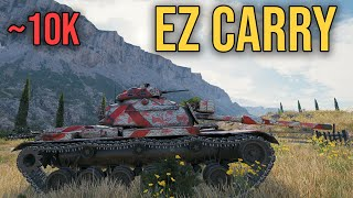 EZ CARRY M60 Patton ~10k dmg World of Tanks