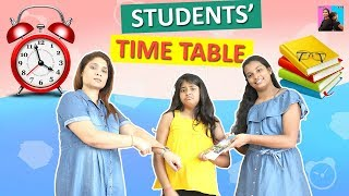 Students Time table l  Moral Story For Kids l Stories For Kids l Ayu And Anu Twin Sisters