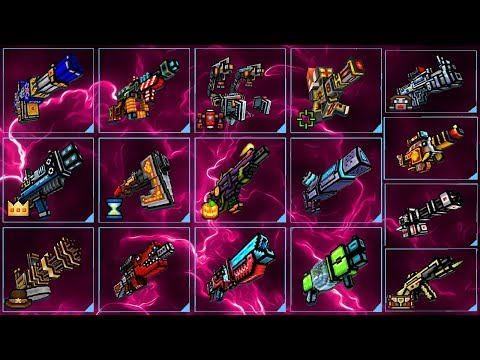 Pixel Gun 3D - Using All Mythical Primary Weapons Challenge