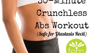 30-min Crunchless Abs (safe for diastasis recti!)