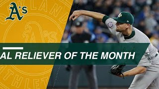 Treinen wins AL Reliever of the Month of May