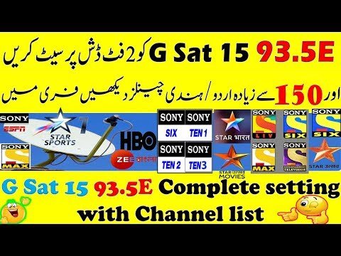 G Sat 15 93 5East Complete Setting With Channel list  - Nєєlυм Tv HD