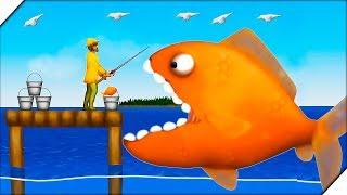 ЗОЛОТАЯ РЫБА СЪЕЛА РЫБАКА Игра Tasty Blue приключения голодной рыбы в океане.Игры на андроид