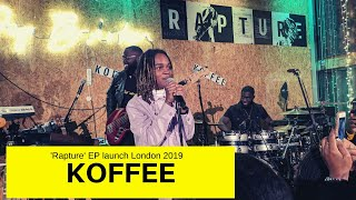Koffee 'Rapture EP' Launch March 2019 London