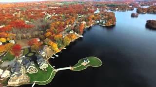 Lake Quinsigamond in Shrewsbury MA, Drone Footage (Full Flight)