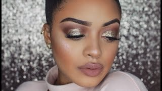 HIGHLY REQUESTED | GOLD GLITTER CUT CREASE LOOK