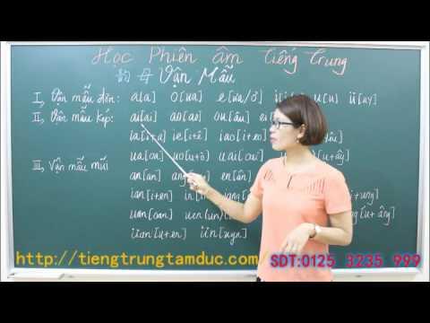 Học phát âm tiếng Trung cơ bản từ đầu 2 Vận mẫu
