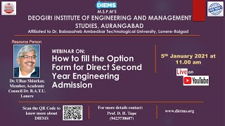 How to fill the Option Form for Direct Second Year Engineering Admission