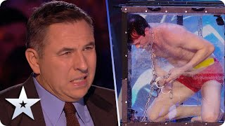 FEAR FACTOR! Christian Wedoy puts LIFE in Judges' hands in DANGEROUS escape! | BGT 2020