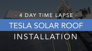 Tesla Solar Roof Installation Time Lapse