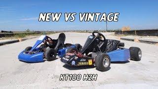 KT100 2 Stroke Racing Go Kart Head To Head!