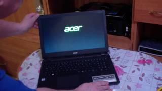 Распаковка ноутбука Acer Aspire ES1-572 с сайта computeruniverse ru