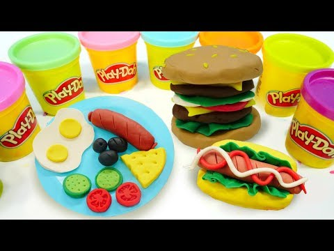 Basteln für kinder. Wir spielen mit Knete und lernen die Farben. Spielspaß mit Play Doh