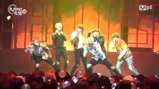 Gambar cover [MPD직캠] 방탄소년단 직캠 불타오르네 Fire BTS  Fancam @엠카운트다운_160512