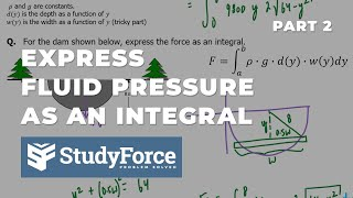 📚 How to express fluid pressure force as an integral (Part 2, Semi-circle Dam)