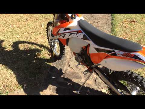 '15 KTM 500 exc,start up & stock sound