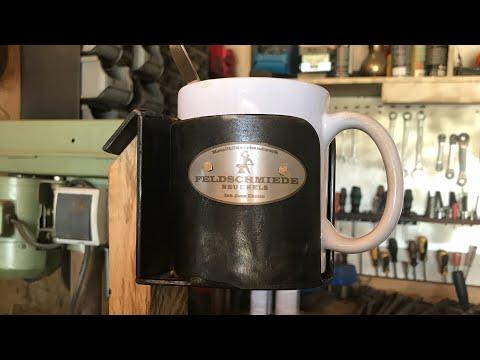French Cleat/Keilleisten Wandhalterung - Kaffeebecherhalter im Feldschmiede-Stil! ;)