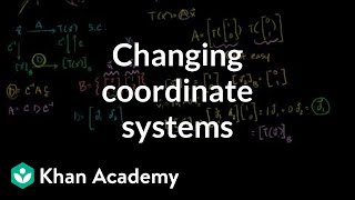 Lin Alg: Changing coordinate systems to help find a transformation matrix