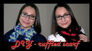How To Crochet For Beginners | Easy Ruffled Scarf