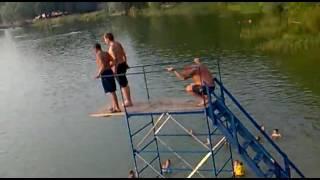 Водный батут 40кг vs 220 кг