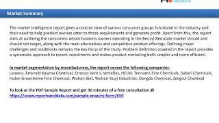 Benzyl Benzoate Market Size, New Trends & Types To 2027