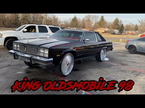 KING OLDSMOBILE 98: 1977 Oldsmobile ninety eight on 28' Dub Diragios