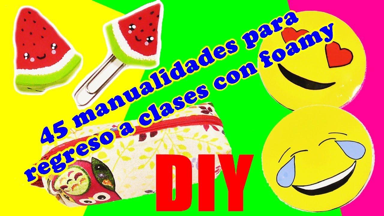 45 manualidades para regreso a clases con foamy. 3 Ideas fáciles y útiles de Amparo Lacruz