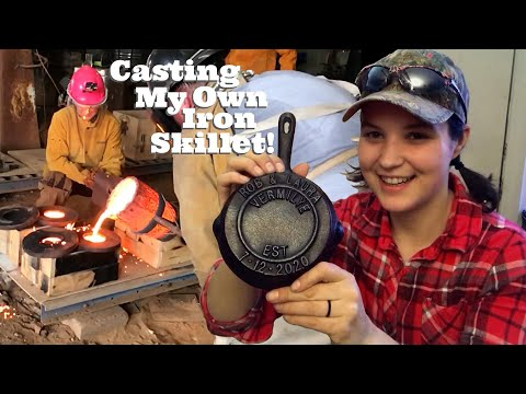 Making a Cast Iron Skillet Using Recycled Brake Rotors